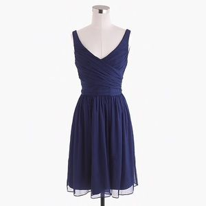 J. Crew 'Heidi' bridesmaid dress navy